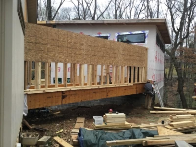 Breezeway construction