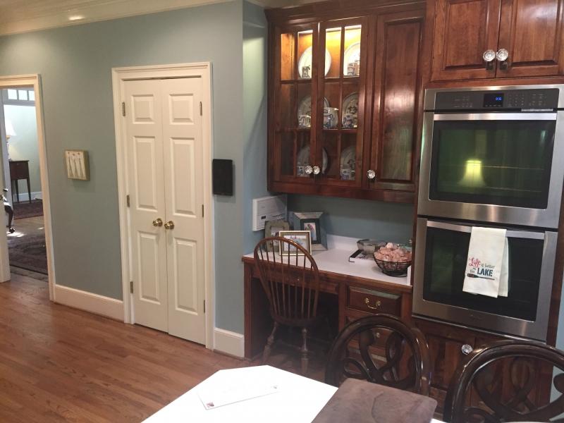 Door to dining room before